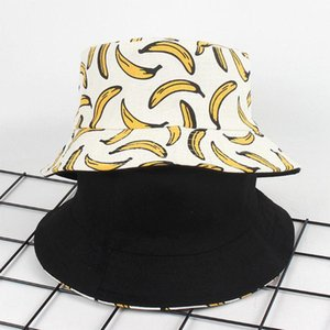 Feitong Bucket Hat mulheres homens unisex Adulto Dupla Face Wear Banana Fisherman Hat protectores solares Ar Livre Cap Sun Proteção Praia