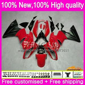 Body +8Gifts For KAWASAKI 650R ER6 F 650 R ER6F 09 10 11 Body 48HM.15 650R ER 6F 09 11 ER 6 F ER-6F 2009 2010 2011 Gloss red blk Fairing Kit