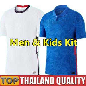 2020 England Angleterre maillots de foot 2021 Gerrard Lampard KANE dele sterling Accueil une façon ensemble de maillot de football 20 21 Hommes kit enfant uniformes