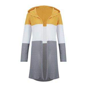 2018 2019 جديد الركض ملابس النساء مقطع طويل مقنعين سترة سترة سترة متماسكة سترة السيدة سترة سترة واقية