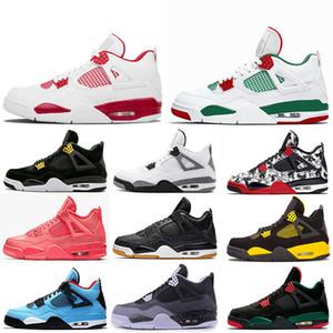 Nike air jordan 4 shoes Basketball Shoes Chaussures de sport Skateboard des femmes des hommes Sneakers velours Heelback Chaussures de sport Tennis