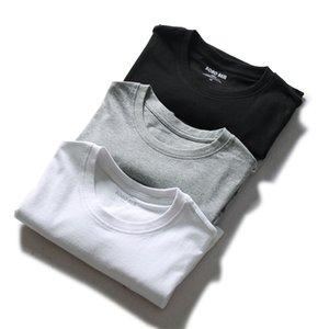 Nuovo stile manica corta T-shirt del Gomito a maniche Top girocollo Solid White T-shirt Slim Fit estate colore solido T gioventù Base Sh
