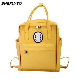 Designer Canvas Backpacks Women School Bags for Teenager Girls Black Cute Backpacks Travel Shoulder Bags Famale Rucksack