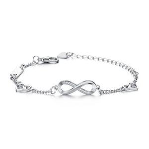 Infinity fascino braccialetti dei braccialetti d'epoca con strass 8 illimitato Charm Bracelet regolabile per gioielli uomini donne regalo poco costoso all'ingrosso