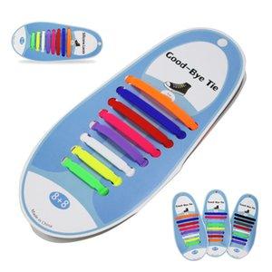 Free Tie Спорт Повседневный Красочные Силиконовые шнурки Эластичные силиконовые Шнурки Картонные упаковки Мужчины Женщины Нет галстука шнурки