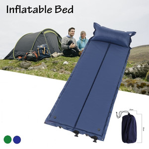 Kendinden Şişme Uyku Mat Yastık Ile Yastık Kendinden Şişen Uyku Pedi Katlanabilir Yatak Kamp Çadırı Tek Mat