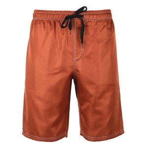 Men's quick drying beach pants solid color Shorts Large Size sports fitness Euramerican Capris men's summer