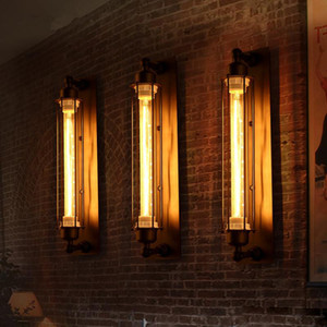 Antigüedades Estilo vintage Loft Industrial Vintage Edison Lámpara de luz de pared barra resturent Lámparas colgantes techo Lámpara Luz