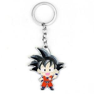 Boys Men Hot Anime Dragon Ball Z Son Goku Figure Fashion Keychains Super Saiyan Metal Pendant Key Ring Jewelry Key Chain Holder