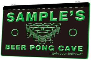 LS0592 0 Name Personalisierte Bar Bier-Becher-Glas Pub Mehrere RGB-Farben-Fernbedienung 3D Gravur LED Neonlicht-Zeichen-Shop Bar Pub-Club