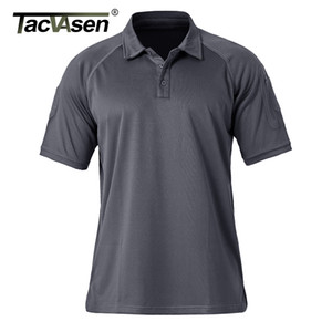 TACVASEN Летние рубашки мужские легкие Боттон Повседневный Golf Polos дышащий Tactical Polos пуловер Hike Одежда