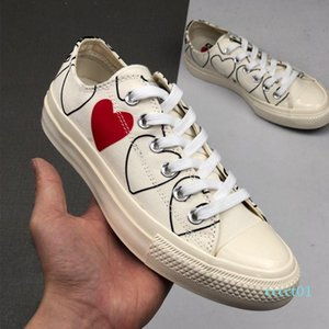 1970 Play shoe chuck 70 all star chaussures Canvas Jointly Big With Eyes Heart Beige Black designer casual Skateboard Sneakers 35-44 1ct