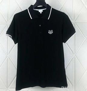 HOT bordado tigre camisas polo mens designer de camisetas marca de vestuário de manga curta calssic verão luxuoso do negócio topos Casual tee