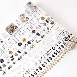 10 rolls set Nordic Northern Europe life number arrows cactus washi tape DIY Planner diary scrapbooking masking tape escolar 2016