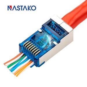 Bilgisayar Büro Bilgisayar Kabloları Konnektörler EZ RJ45 Konnektör 5e Cat6 Connector jack Ağ 8P8C Cat6 Modülü Tak Lan Kablo RJ45