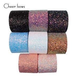 1 Yarda 3''75mm Nuevo Brillante Chunky Glitter Cinta Blingbling Paquete de Regalo de Tela Suave Material Hecho A Mano DIY Accesorios Hairbow