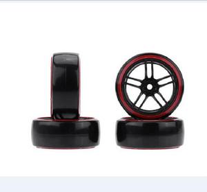 4Pcs / Set RC Drift Car Pneus de jante de roue de pneu dur pour 1/10 Traxxas Tamiya HPI Kyosho Sur-Route Drifting Car