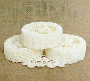 Natural loofah luffa loofa pad spa banho facial sabão titular luffa sabonete pratos banheiro acessórios de banheiro ferramentas RRA2765