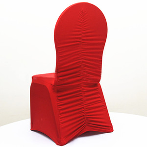 WedFavor 50pcs increspato Torna Spandex Stretch Chair Covers elastica Lycra balze Chair coperture per hotel Banchetto Wedding Decoration
