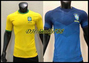 Player versão 2020 do Brasil Copa América Início camisa amarela # 12 Fardas afastado de futebol azul Jersey 20 21 # 11 P.COUTINHO futebol MARCELO Futebol