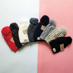 Verkauf Marke Australien Pom Pom Hüte Winter Keep Warm Knitting Beanie Frauen Mädchen Strickmützen Mützen Outdoor Crochet Gorros Ski Hut