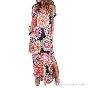 여성 여름 드레스 플로라 프린트 하프 슬리브 드레스 디자이너 V - 목 배트 윙 슬리브 여성 패션 편직 의류