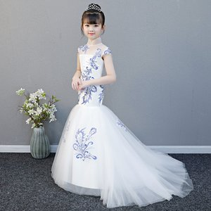 Embroidery Princess Dress Kids Party Dresses For Toddler Girl Teen Dress Girl Clothes Children Wedding Costume Kids Evening Gown