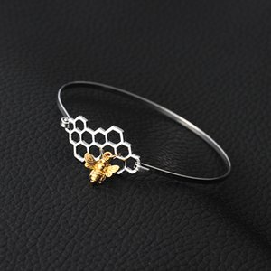 Прекрасное Геометрические Honeycomb животные пчела Кольцо для женщин Девушки Элегантных тонкого кольца Свадьбы Мода ювелирных изделий BAGUE ф