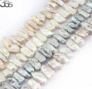 """Spedizione gratuita SR 9x18mm Biwa barocco Reborn Keshi Perle perla naturale perli fai da te per monili che fanno Strand 15"""" T200507"""