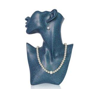 Gioielli 4style Holder gli accessori capi dell'orecchino della collana della testa del Mannequin Jewelry del busto per l'orecchino Display Stand Modello display D229