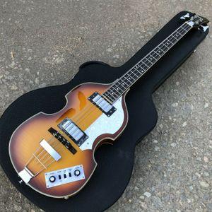 Hofner Sunburst Flame Maple vintage 4 strings BB2 Electric Violin bass Guitar