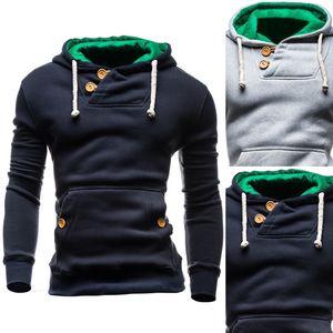 디자이너 남성 후드는 운동복을 착용 바디 긴 소매 스웨터 버튼 패션 운동 정장의 거리 모양