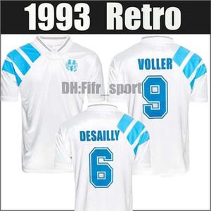 Maillot de foot om alt Marseille Retro 1992 1993 zusätzliche Größe XXL 2XL Payet Boli Olympique de Marseille Fußball Fußball Jerseys 92 93 S-XXL