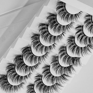 3 D Fake Mink Hair Synthetic Eyelashes Set Hand Made Natural Long Lasting Extension Full Strip False Eye Lashes Make Up Tools