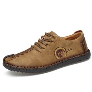 Горячая распродажа кожа свободного покроя вождение дышащая обувь лодыжки плоские мужчины мокасины мокасины удобная обувь MX190729