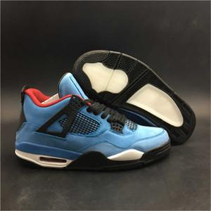 Massima versione 4 Cactus Jack Man pallacanestro Designer Suede Shoes IV Collaborazione Università Blu Rosso Nero Moda formatori di buona qualità