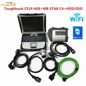 Alta Qualidade MB Estrela C4 SD Connect com V2020.12 Soft-Ware HDD SSD Toughbook CF19 4GB Trabalho de laptop para MB Star C4 Ferramenta de diagnóstico