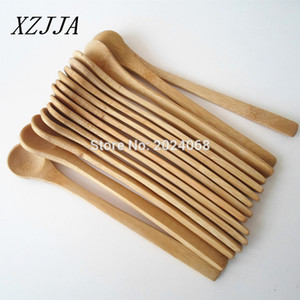 Venta al por mayor 15pcs 7 .5inch Spoon de madera Ecofriendly Japón Vajilla Cuchara de bambú Scoop Coffee Honey Tea Ladle Stirrer Mejor Calidad