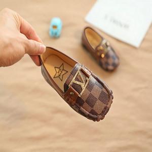 Bebek Küçük Deri Ayakkabı çocukların PU yumuşak tabanlı ayakkabılar Erkek Çocuk Parti Ayakkabı Flats Loafers Çocuk spor ayakkabısı 21-30