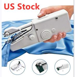 الأسهم الأمريكية DIY المحمولة المنزلية البسيطة اليد ماكينة الخياطة غرزة السريع خيط التطريز اللاسلكي الملابس الأقمشة الإلكترونية آلات الخياطة