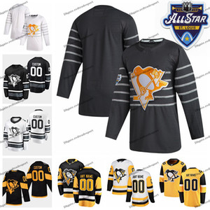 2020 All Star 58 Kris Letang 35 Tristan Jarry 59 Jake Guentzel Personalizar Pittsburgh Penguins Hockey Jersey Crosby Malkin Marleau Rust Zucker