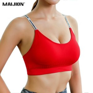 Breathable MAIJION Sweat Women Absorb Sports Bra Shockproof Padded Athletic Running Fitness Yoga Bra Top Seamless Sport Tops