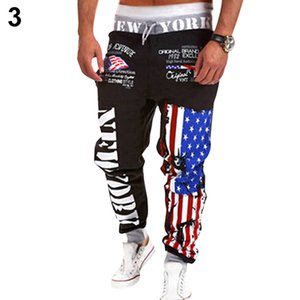 2019 Nuovo prodotto Uomo Us Flag Dance Wear Baggy Harem Pantaloni Pantaloni Pantaloni Pantaloni sportivi Y19073001