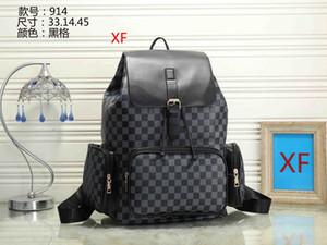 qualty hombres mujeres diseñadores mochilas grandes bolsas de viaje de la moda mochilas capacidad superior de estilo clásico de cuero genuino 01