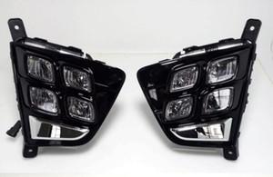 Araba Aksesuarları Su Geçirmez ABS 12 V LED Gündüz Çalışan Işık DRL Sis Lambası Dekorasyon Hyundai Creta IX25 2014 2015 2016