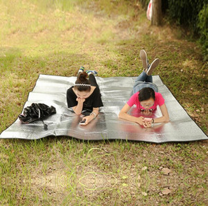 Beach moisture pad double-sided aluminum film tent mat 2*2m outdoor floor cloth thickening eva aluminum foil picnic camping crawling