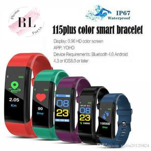 Schermo ID115 PLUS Smart Colour Bracciale di sport contapassi orologio fitness Esecuzione Tracker frequenza cardiaca Contapassi intelligente Braccialetti