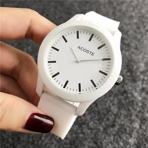 Relógio de quartzo dos homens e das mulheres pulseira branca relógio ladies dress casal relógio criativo 2018 new relojes mujer