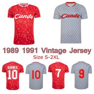 1989 1991 JOHN BARNES Ian Rush Kenny Dalglish maillot de football rétro 1990 CANDY domicile loin classique chemise de football vintage