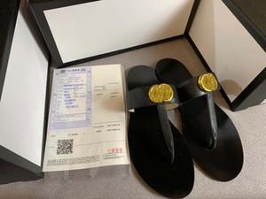 Finden Sie ähnliche 44 Männer Frauen Sandalen Designer-Schuhe schieben Summer Fashion breite flache Slippery mit dicken Sandalen Slipper Flip Flop und Box